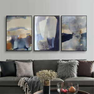 Abstract Marble Geometric Art Painting Canvas Poster Wall Modern Home Room Decor $3.99