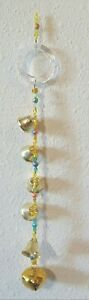 Beaded Bell Tower SunCatcher WindChime with 6 Bells. Hanging from a Crystal Ring