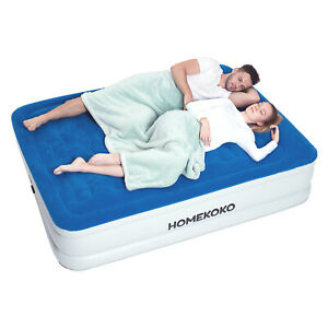 Air Mattress with Built in Electric Pump and Pillow Queen Size