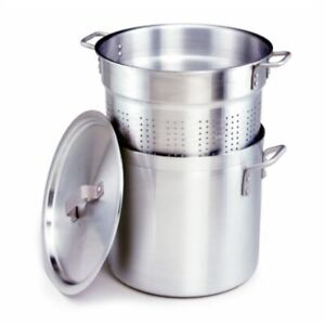crestware 12-quart 3-piece aluminum pasta cooker with pot perforated insert and