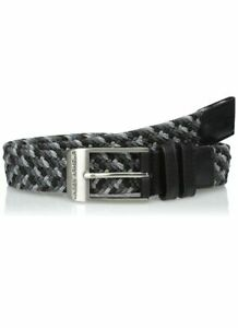 Under Armour Mens Braided Golf Belt Black Gray Size 40 NWT $25.99