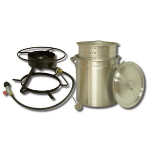 Seafood Lobster Shrimp Crawfish Crab Boiling Outdoor Propane Cooker Steamer 50qt