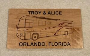Wood Camping Class A or 5th Wheel RV Camping Custom and personalized signs
