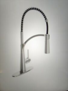 Glacier Bay Brenner Stainless Commercial Style Kitchen Faucet FP4F0005SS #GB8