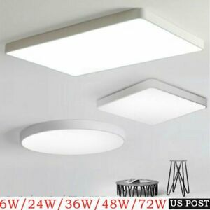 72W LED Ceiling Light Ultra Thin Dimmable Flush Mount Kitchen Lamp Home Fixture