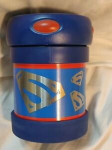 NEW Thermos Funtainer Rare Blue Superman Logo 10oz Hot Cold Food Container Jar