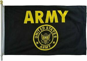 US Army Crest Flag United States Military Banner Polyester 3x5 Foot Flags