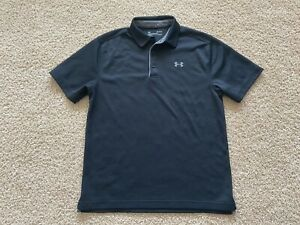 Under Armour performance golf polo shirt men M black $6.50