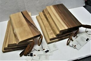 2  Hearth & Hand Magnolia Acacia Serving Boards Cutting Trays New With Hang Tag