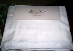 White QUEEN Sheet Set EGYPTIAN Cotton Sateen 300TC Sferra Italian New $450