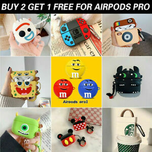 AirPods Pro Case Silicone Cover 3D Cartoon Novelty Protective for Apple Airpod 3