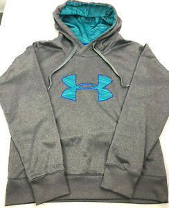 Womens Under Armour Storm ColdGear Semi Fitted Hoodie Sweater Size Large $24.95