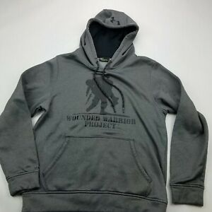 Under Armour Wounded Warrior Project WWP Hoodie Sweatshirt Small Gray $21.04