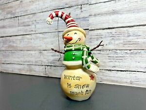 Christmas Snowman Tree Hanging Wooden Ornament