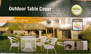 Hentex Outdoor Patio Furniture Round Table Cover Water Resistant 94quot; D x 27quot; H $12.95