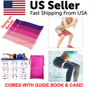 Resistance Bands Workout Loop Set 5 Legs Exercise CrossFit Fitness Yoga Booty $7.85
