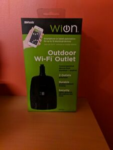 Woods WiOn 50049 Outdoor Wi-Fi Wireless Plug-In Switch, Smartphone And Tablet
