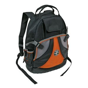 Klein 55421-BP Tradesman Pro Backpack - Black/Orange/Gray - USED