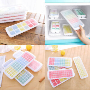 Silicone Cube Tray Ices Jelly Maker Mold Trays with Lid for Whisky Cocktail US $4.30
