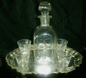Crystal Cordial Decanter Glass Stopper 13-1/2