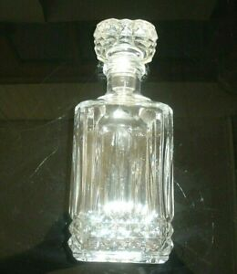 Crystal Liquor Decanter with Glass Stopper VERY HEAVY over 3lbs VERY OLD PERFECT