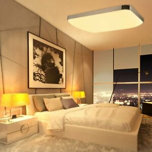 LED Fixture Ceiling Light Lamp Modern Square Round Surface Mount Dimmable