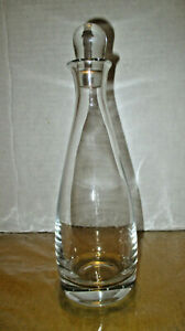 """Vintage Block Beautiful Clear Lead Crystal Decanter with Topper – 10 ½"""" High"""
