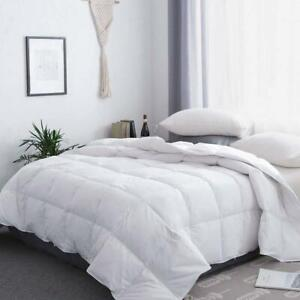 White Soft All Season Goose Down Comforter Hotel Lightweight Duvets Inset US $42.74