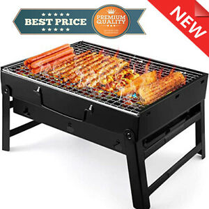 LETION UTTORA Charcoal Grill Barbecue Portable BBQ - Stainless Steel Folding
