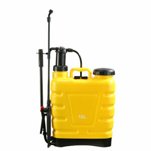 5 Gallon Backpack Manual Pump Water Sprayer Gardening Pesticides Fertilizers NEW