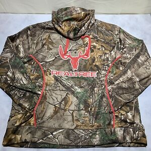Camo Pink Realtree Logo Pullover Hoodie Women's Size S with kangaroo Pocket