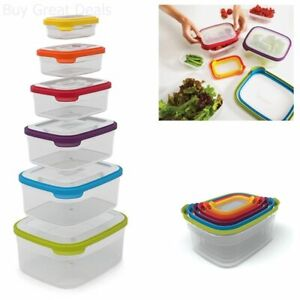 Food Storage Container Set Nest Plastic Saves Food Reusable