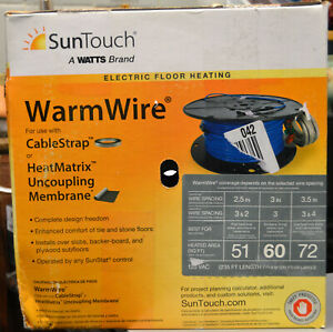 SunTouch Floor Warming 60 sq. ft. 120V Radiant Under Floor Heating Wire 81014505