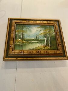Forest Oil Painting Unknown Artist Lot No. 10023