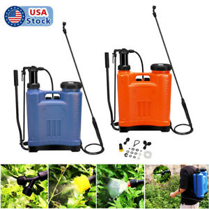 4-5 Gallon Backpack Manual Pesticide/Fertilizer Garden Sprayer with 3 Nozzles US