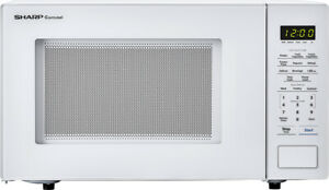 Open-Box Excellent: Sharp - Carousel 1.1 Cu. Ft. Mid-Size Microwave - White