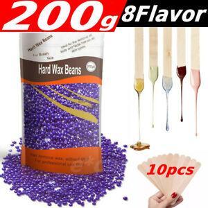 200g Natural Hard Wax Beans Beads for Painless Body Hair Removal Waxing Warmer $6.99