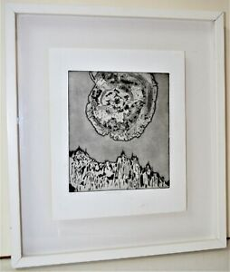 ORIGINAL ETCHING SIGNED NUMBERED SURREALIST ABSTRACT ART ENTITLED FRAMED $49.00