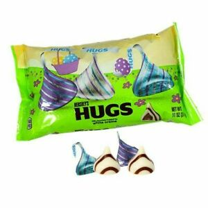 Hershey's Easter Hugs White Creme and Milk Chocolate Candy 11 oz - 4 Bags