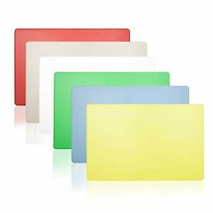 Extra Large Commercial Cutting Board Six Color Set, 24 x 18 x 0.5 Inch, Multi Co