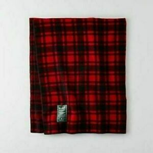 WOOLRICH X AMERICAN EAGLE OUTFITTERS AEO BUFFALO PLAID BLANKET 50