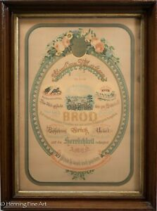 Antique 19th Century Illustrated Lords Prayer Lithograph (German) 1877 S.T. Buck $115.00