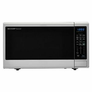 Sharp Carousel 1100 W 1.8 Cu.Ft. Stainless Countertop Microwave