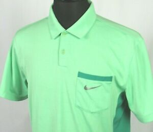 Men's Nike Golf Dri Fit Tour Performance 100% Polyester Green Polo Shirt Medium $13.50