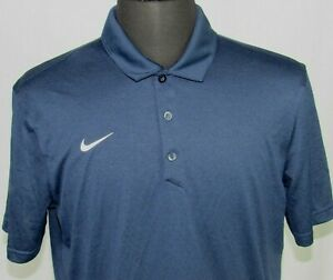 Men's Nike Dri Fit Short Sleeved 100% Polyester Polo Golf Shirt Large $7.50