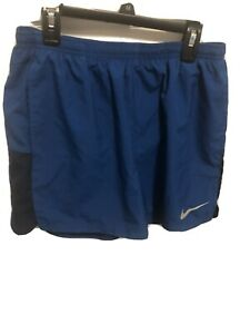 NIKE RUNNING DRI FIT Men's Spandex Lined Shorts Blue Gray Size Large $20.50
