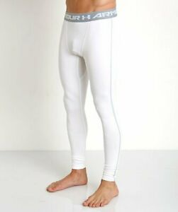UNDER ARMOUR Mens Compression Leggings Cold Gear WHITE Small Medium Large XXL $26.95