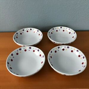 SET of 4 Pampered Chef Simple Addition Polka DOTS 8
