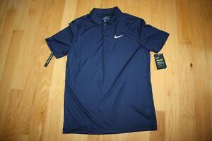 NEW NIKE Men's Dri Fit Golf Polo Shirt Royal Blue Regular Fit Size M $24.00