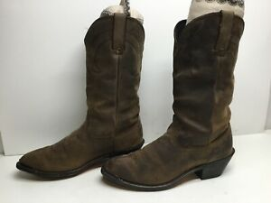 VTG WOMENS UNBRANDED TOE RAND COWBOY BROWN BOOTS SIZE 7.5 M $21.99